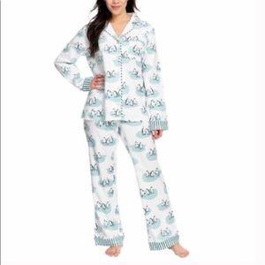 Munki Munki Festive Penguins Pajama Pants
